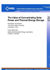 |The Value of Concentrating Solar power and Thermal jEnergy Storage Brochure