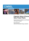 Capacity Value of Concentrating Solar Power Plants Brochure