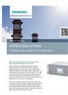 SIPROCESS UV600 Continuous Gas Analysis for UV-Active Gases - Brochure