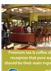 Premium Water for Tea & Cofee Shops Application Brochure