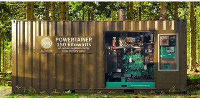 Powertainer - Model PT150 - Containerized 150kW biomass gasifier generator system