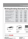A Series ESTA Welding/Grinding Downdraft Tables DataSheet