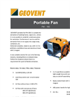 PM-180-1 Geovent Portable Fan DataSheet