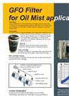 Geovent GFO Oil Mist Filter DataSheet