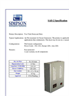 Simpson - Model SAD-2 - Two Tube Desiccant Air Dryer - Brochure