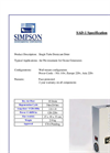 Simpson - Model SAD-1 - Single Tube Desiccant Air Dryer - Brochure