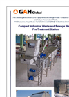 GAH Global - Compact Industrial Waste and Sewage Waste Pre-Treatment Station - Brochure