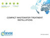 Compact Wastewater Treatment Installations - Brochure