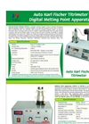 Catalog Karl Fischer Titrimeter-Melting Point Apparatus