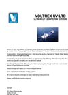 Voltrex UV Ltd - Ultraviolet Disinfection Systems Brochure