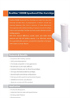 Horizon RealMax - Model RMMB - Spunbond Filter Cartridge - Datasheet