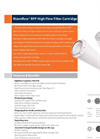 Horizon Rizonflow - Model RFP - High Flow Filter Cartridge - Datasheet