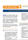 ISO 9001 Quality Management Systems Certification - Brochure