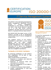 ISO 20000 IT Service Management - Brochure