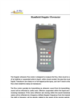 Doppler Flowmeter / Portable Handheld Ultrasonic Flow Meter