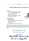 A.YITE - Model GE-920 - Air Differential Pressure Transmitter Datasheet