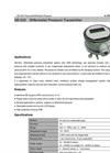 Air Differential Pressure Transmitter with LCD Screen