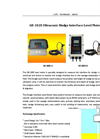 A.YITE - Model GE-102S - Ultrasonic Sludge Interface Depth Level Meter Datasheet