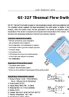 GE-327 Thermal Flow Switch | Electronic Flow Sensor