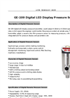 GE-209 Digital LED Display Pressure Sensor