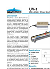 Wyckomar - UV-1 - Ultra Violet Water Sterilizer - Brochure