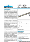 Wyckomar - UV-1200 - Ultra Violet Water Sterilizer - Brochure