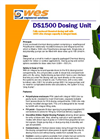 WES  - DS1500 - Fully enclosed Chemical dosing unit with 1500 Litre storage capacity & integral bund