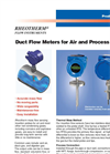 Rheotherm - Model M210 - Duct Flow Meters for Air & Gas - Brochure