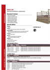 Model MAS-LM - Mechanical Stationary Livestock Scale Brochure