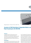 Analysis of 258 Pesticides in Vegetable Matrix using Triple Quadrupole GC-MS/MS