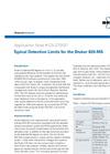 Typical Detection Limits for the Bruker 820-MS