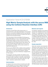 High Matrix Sample Analysis with the aurora M90 ICP-MS using the Collision Reaction Interface (CRI)