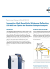 Innovative High Sensitivity 90-degree Reflecting ICP-MS Ion Optics for Routine Sample Analysis