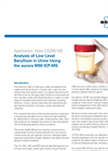 Analysis of Low Level Beryllium in Urine Using the aurora M90 ICP-MS