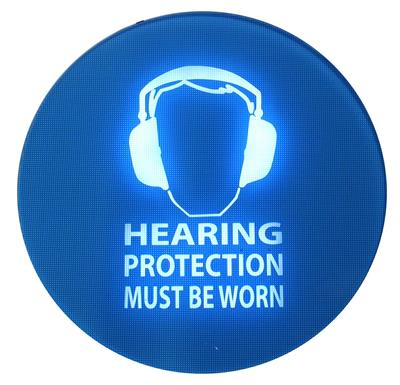 Pulsar SafeEar - Model Master - Noise-Activated Warning Sign