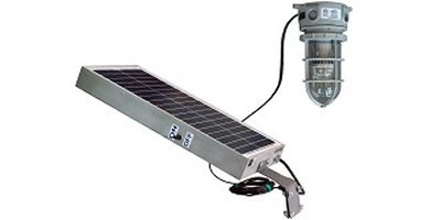 Larson Electronics - Model 30 Ft SEOOW - Solar Powered Hazardous Location LED Light