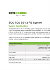 Model ECO TDS SS-12-RS - TDS - Tire Derived Shreds Brochure