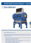 ELDAN - Multi Purpose Raspers - Hydraulic Up to 16000 kg/h - Brochure
