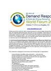 Sponsorship & Exhibition Prospectus - 4th Demand Response & DER World Forum 2017