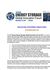 Sponsorship & Exhibition Prospectus - 2nd Energy Storage Global Innovation Forum 2017