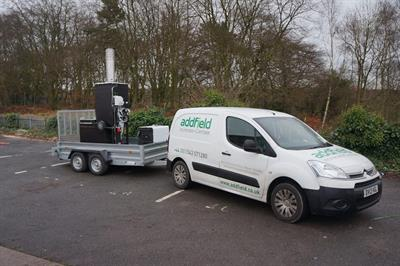 Small Trailer Mounted Mobile Incinerator-1