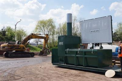 Addfield - Model 20ft - Heavy Duty Skid Mounted Mobile Incinerator