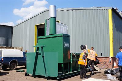 Heavy Duty Skid Mounted Mobile Incinerator-2
