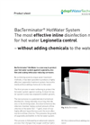 BacTerminator - Model Health Care - Legionella Disinfection System Brochure