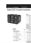 Eaton E32 3-switch modules datasheet