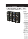 Eaton E31 keypad modules datasheet