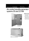 Air-Cooled Standby Generator Systems Spec Sheet