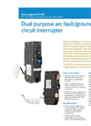 Eaton - Model AF/GF - Dual Purpose Arc Fault/Ground Fault Circuit Interrupter - Brochure