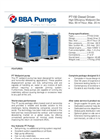BBA Pumps PT150 D180 Diesel Wellpoint Dewatering Pumps - Technical Specifications