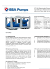 BBA Pumps PT150 D180 - 7,5kW Wellpoint Dewatering Pumps - Technical Specifications